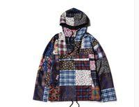 anorak pullover jacket - Autumn winter Supremitied brand clothing jacket men hip hop Retro Patchwork Anorak beggar Cashew flowers sup bap hoodie coat