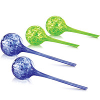 Wholesale Stained Glass Plant Watering Bulbs Mini Decorative Glass Watering Globes Assorted Colorsr Up to and a half to weeks