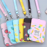 Wholesale High Quality PU Badge Holder With Lanyard School Supplies Student Office Exhibition Hospital Double Side Badge Holders