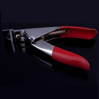Wholesale Red Manicure Nail Cutter Stainless Steel Nail Clipper Acrylic Gel False Nail Tip Cutter Clipper Nail Tool Drop Shipping
