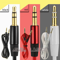 Wholesale 3 mm AUX Audio Cables meter Male To Male Stereo Car Extension Audio Cable For MP3 For phone