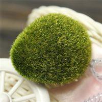 Wholesale 1Pcs Artificial Moss Stones Grass Bryophytes Home Garden Bonsai Decoration For Garden Path