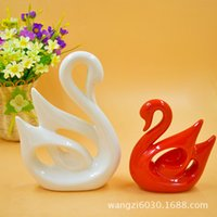 arts and crafts style - H1126 Lovers Swan Ceramics Technology Goods Of Furniture For Display Rather Than For Use Decoration Ceramics Arts And Crafts Originality Hom