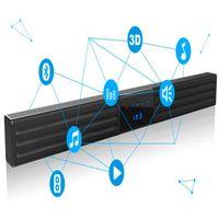alluminum alloy - 2 ch alluminum alloy home theater W tv soundbar with led display RC support aux input AV USB optical