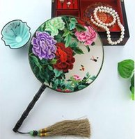 antique handheld fans - Double sided embroidery handmade embroidery embroidery fan fan fan China handheld house features