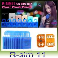 Wholesale unlock sim card R SIM RSIM11 r sim11 rsim for iPhone plus plus iOS ios7 x iphone7 CDMA GSM WCDMA SB AU SPRINT G G