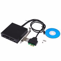 Freeshipping 3.5inch PCI Express al USB 3.0 Combo Interno Panel Frontal 4 Hub + Todo en 1 Adaptador de Lector de Tarjeta 3.0 Interno
