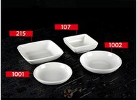 Wholesale 5 melamine small dish plate white