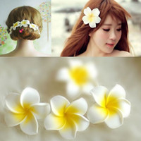 Wholesale 100 Handmade Hawaiian Foam Frangipani Butterfly Hair Flower For Kids And Adult cm