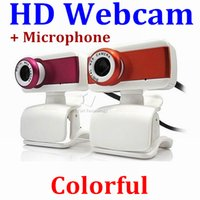 Wholesale New Digital USB M Mega Pixel Webcam Stylish Rotate Camera HD Web Cam With Mic Microphone Clip for PC Laptop Notebook Computer