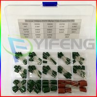 assorted storage boxes - Value capacitor kit V J102J to J683J Polyester Film capacitor Assorted Kit with electronics storage box