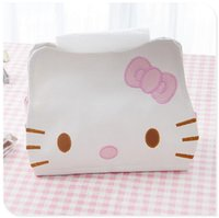 Wholesale X Cute Kawaii Hello kitty Leather Tissue Case Napkin Holder Tissue Storage Box Container Cover Home Decoration