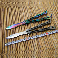Wholesale spyderfly B01P Butterfly knife Balisong Flipper knife C steel Pocket knives Whloe stainess steel handle style of colour