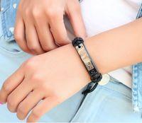 bible movies - Fashion leather bracelet alloy cross RELIGIOUS Leather Adjustable size Bible Men s Woman DIY