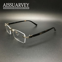 Black best rimless eyeglass frames - Eyeglasses frame fashion brand men women optical prescription rimless reading computer myopia special classic type best price