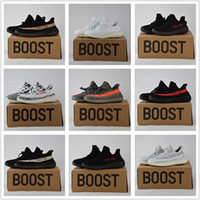 yeezy boost 350 - 2017 Adidas Originals Yeezy Boost V2 Beluga Sply Black White Black Peach Men Women Running Shoes Kanye West Yezzy Boost With Box