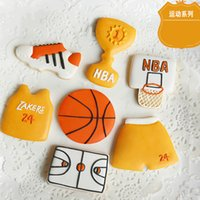 bakery molds - 7pcs Basketball Sport patisserie reposteria Cookie Cutters Molds Metal Fondant Cake Decorating Cooking Tool Biscuit Pastry Shop Bakery Mould
