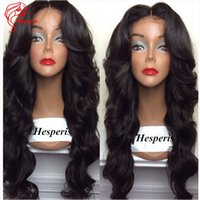 Wholesale 8A Super Wavy Full Lace Human Hair Wigs for Black Women Brazilian hair color Lace Front Wig
