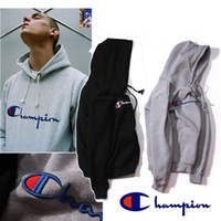 Wholesale 2017 Champion Hooded Wweater Plus Cashmere Lovers Sport Hoodies Sudaderas Mens Hoodies and Sweatshirt Skateboard Jumper with Hat