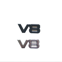 Wholesale pieces D ABS Metal V8 Emblems badge Car stickers and decals car styling car accessories