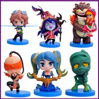 Wholesale Best Christmas gifts Q version piece set Garage Kits toys for kids League of Legends multicolor PVC cm