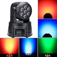 Wholesale 7 W in High Brightness RGBW MINI LED Moving Head Wash Light Stage Moving Head Light