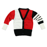 Wholesale New arrival Kids Sweaters Cardigan Single breasted V neck Striped Boys Spring Cotton Clothes Children Casual Sweaters