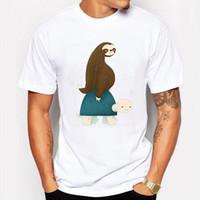 Campeggio trekking T-shirt estate uomini della maglietta ultra lisci tartaruga Printed T-shirt manica corta maglietta O-Collo divertente Hipster homme