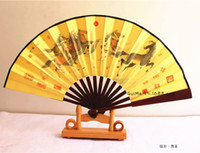 Carved antique religious - One Clear Bamboo Inch Carving Cotton like Lustring Sensu Man Fan Gift Silk Fan View Point Fan