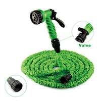 Wholesale Flexible expandable magic water hose pipe with spray nozzle gun garden hose retractable water pipe valve m