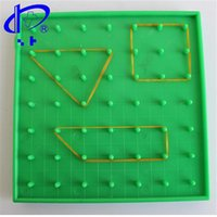 Wholesale Children Educational Aids Plastic Nail Plate Mathematics Teaching Instrument Primary Mathematics Nailboard Tools Geometry Demo