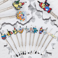 zinc alloy free to USA 1piece/box Wholesale price Honey pipe dabber Cartoon Metal Dabber glass bongs tool,water pipe, dab oil rigs smoking accessories for glass bow,pipes