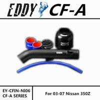 Wholesale For NISSAN Z EDDYSTAR CF A Carbon Fiber Cold Air Intake System Air Filter Air Intake Kit