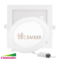 900-2100LM 150° FCC 9W 12W 15W 18W 21W 5-6-7-8-9 Inch Recessed Dimmable Round   Square LED Panel Light LED Ceiling Downlights