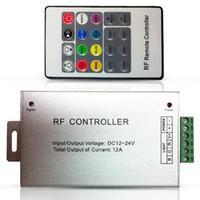 al por mayor controlador del módulo de corriente continua-DC12V-24V 12A RF sin hilos llevó el regulador teledirigido 20 rgb dominante llevó el regulador para los módulos de las luces de tira del SMD 5050 3528 LED