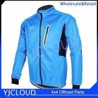 Wholesale ARSUXEO Winter Autumn Warm Up Thermal Waterproof Windproof Men Cycling Running Jacket Men Softshell Sport Coat Outerwear
