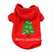 Wholesale 2016 New Style Beautiful Pet Dog Clothes Puppy Coat Red Colors Breathable Fleece Christmas Dog Coat All Season Holiday Gifts Autumn Winter