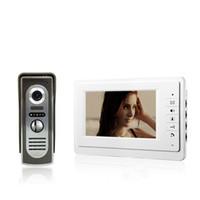 Wholesale 7 inch TFT Color Video Door Phone Intercom System IR Outdoor Metal Panel Color Screen Monitor V70F M2