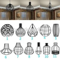 Wholesale Vintage Lampshade w Cable Bulb Chandelier Sconce Light Bulb Screen Decor Black You PICK