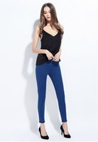 Wholesale Spring high waisted retro ripped denim trousers pants self cultivation All match color four seasons