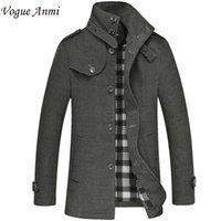 Wholesale Vogue Anmi men Woolen coat winter male wool windbreaker casual jacket wool men M XL WT03