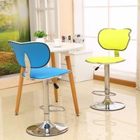 Wholesale office computer chair bar stool yellow color lifting rotation chair retail Personal custom design