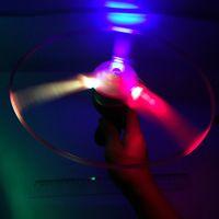 Wholesale Flash PULL luminous flying saucer cm led light UFO children flying toys g W174