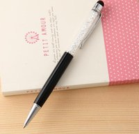 Wholesale Crystal touch screen pen Handwriting Capacitor Water Ballpoint Pen for Gift with beautiful and sweet style