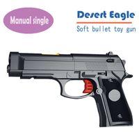 Wholesale High Quality Desert Eagle Nerf Airsoft gun Airgun Soft Bullet Gun Paintball Pistol Toy CS Game Shooting Metal Toy Gun Orbeez