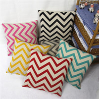 Wholesale Pillow Cover New Fashion Printed Color Wave Pattern Cushion Cases Pillow Cover Home Textiles ER