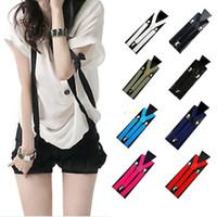 Wholesale Women Clip on Suspenders Y Shape Adjustable Braces Solids Clothes Accessories Colors