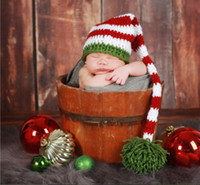 baby with tails - 2016 hot sale new style soft winter Hand woven baby long tail Christmas hats with good price