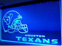 Wholesale b Houston Helmet beer bar pub club d signs LED Neon Light Sign man cave