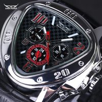 band triangle - Men Fashion Watch Triangle Big Dial Luxury Famous Brand Watches Waterproof Men Clock Stainless Steel Leather Band Wristwatch